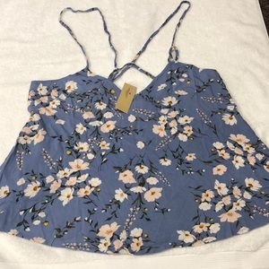 American Eagle- Blue Flower halter top - NWT